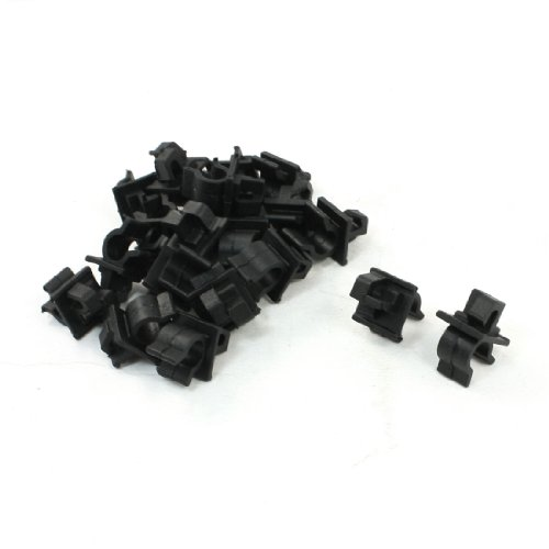 (uxcell Vehicle Car 10mm Hole Black Plastic Hood Prop Rod Clips Rivet 20 Pcs)
