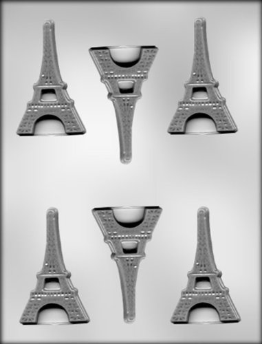 CK Products 3-Inch Flat Eiffel Tower Chocolate Mold (Lollipops Chocolate Custom)