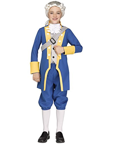 Fun World Big Boy's Sml/George Washington Chld Childrens Costume, Multi, Small