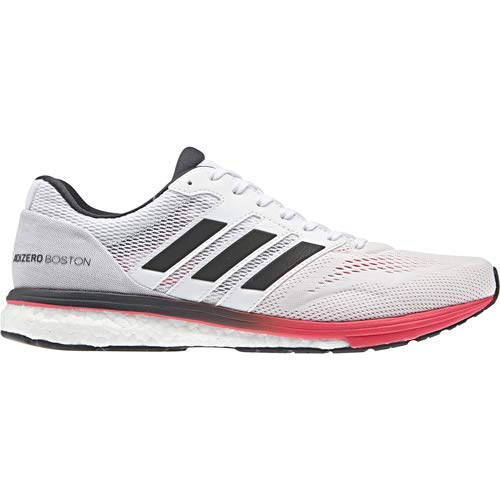 hot sale online a4c79 ba147 adidas Mens Adizero Boston 7, WhiteCarbonShock red, 11.5 M US