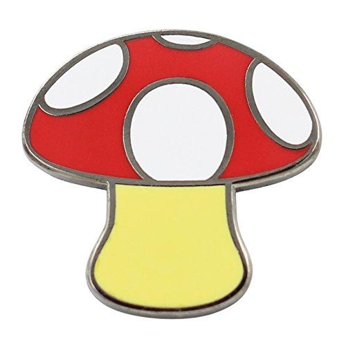 Real Sic Emoji Mushroom Pin Iconic Mushroom Design - Mystic Mushroom Pin for Backpacks, Jackets, Hats, Bags & Tops (Red) (Red Jacket Mystic)