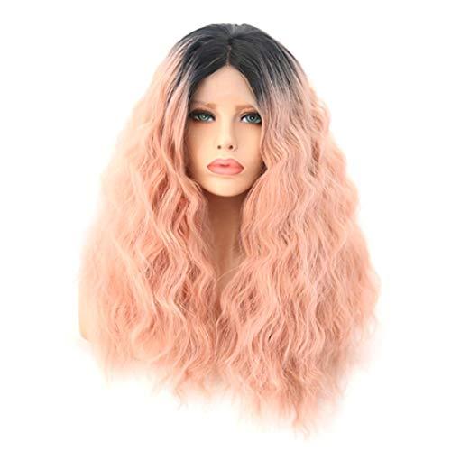 忠誠裁判官ターゲットSummerys 女性のための自然な探している前部レースの合成繊維の毛髪のかつらと長い巻き毛のかつらのかつらの代わりのかつら (Size : 18 inches)