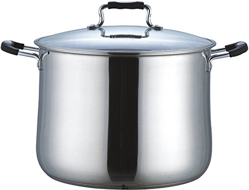 Uniware Stainless Steel Deep Sauce Pot With Lid,Oven Safe PTFE-PFOA-Free,Silver (4.0 QT)
