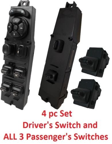 SWITCHDOCTOR Window Master Switch for 1997-2001 Jeep Cherokee 4 piece set With Switch Removal Tool ()