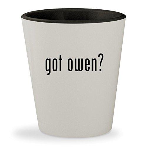 got owen? - White Outer & Black Inner Ceramic 1.5oz Shot Glass