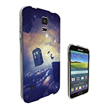 c1051 - Cool Floating Women Galaxy Doctor Who Tardis Out Of Space Design Samsung Galaxy S5 / Galaxy S5 Neo Fashion Trend CASE Gel Rubber Silicone All Edges Protection Case Cover