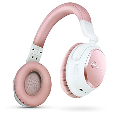 Naztech i9BT Over-Ear Active Noise Cancelling Headphones, aptX Bluetooth 4.1 Technology for HD Quality Stereo Sound, Low Latency, Enhanced Bass, In-line Mic.