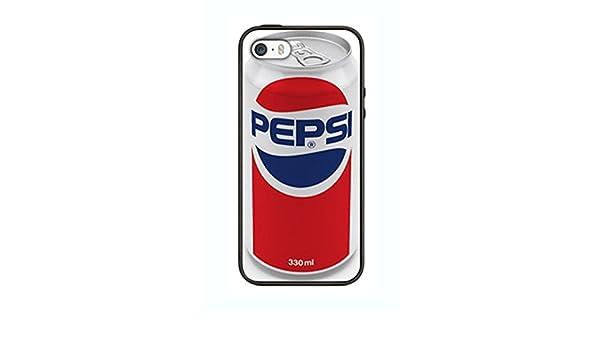 Pepsi Cola Funda para iphone 5c PS10 Border carcasa de silicona para de goma negro @ pattayamart: Amazon.es: Jardín