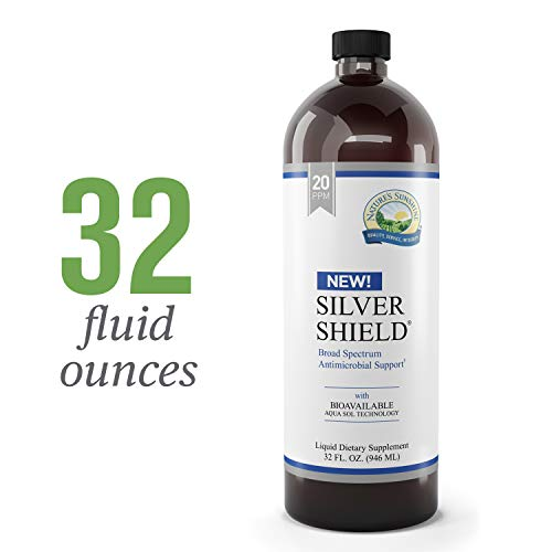 Support Spectrum Broad - Nature's Sunshine Silver Shield Liquid, 32 fl. oz. | Colloidal Silver Liquid with Aqua Sol Technology Provides Immune Support and Protection