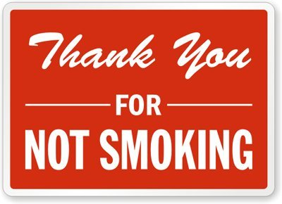 Amazoncom Thank You For Not Smoking Sign 18 X 12 Thank You