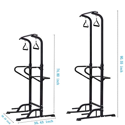 LIANXIN Power Tower - Home Gym Adjustable Multi-Function Fitness Strength Training Equipment Stand Workout Station