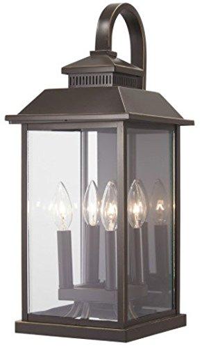 Minka Lavery Outdoor Wall Light 72592-143C Miner's Loft Exterior Wall Lantern, 4-Light 160 Watts, Oil Rubbed Bronze