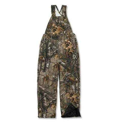 Carhartt Big Boys' Washed Work Camo Bib Overall, Realtree Xtra, - Hunting Clothes Youth
