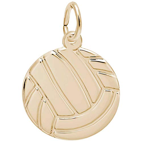 Rembrandt Charms Volleyball Charm, 14K Yellow Gold