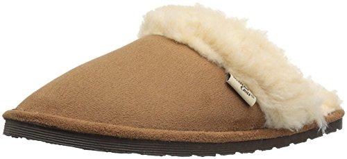 Western Chief Women's Plush Slip-on Comfort Outdoor Scuff Slipper, Scuff Wheat, 8 M US