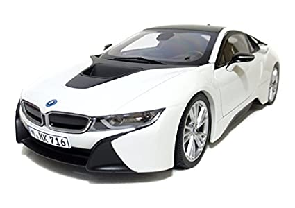 Amazon Com Paragon 97083 Bmw I8 Crystal White And Frozen Grey 1 18