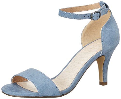 Tacones Mujer Sandal Mam16 Basic Low Azul Blue Light Bianco q4pw7BHFF