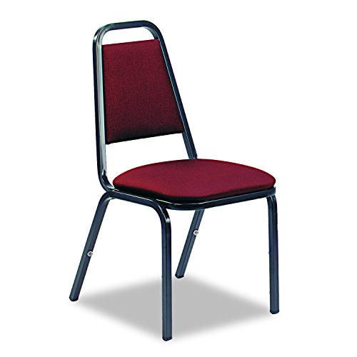 Virco 48926E38D8 8926 Series Vinyl Upholstered Stack Chair 18w x 22d x 34-1/2h Wine/Black 4/CT, Wine ()