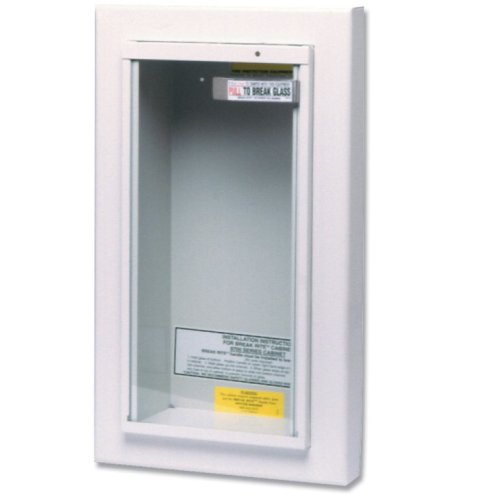 Kidde 468045 Semi-Recessed 10-Pound Fire Extinguisher Cabinet by Kidde