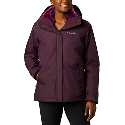Columbia Women's Bugaboo Ii Fleece Interchange Jacket, Black Cherry, 2X