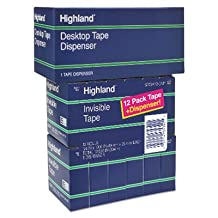 """Invisible Tape, 3/4"""""""" x 1000"""""""", 1"""""""" Core, 12/Pack, Sold as 12 Roll"""