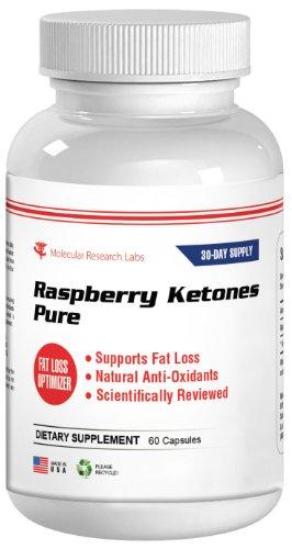 Molecular Research Labs Framboise cétones pure perte de poids naturel et l'appétit Capsules faim, 800 mg