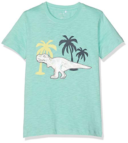 EULLA Kinder Jungen T-Shirt Baumwolle Cartoon Dinosaurier Kurzarm Shirt 98 104 110 116 122