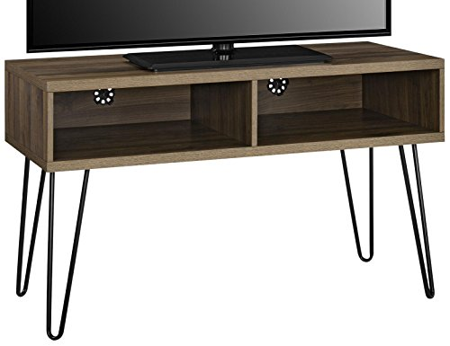 96COM Owen Collection Retro TV Stand, Walnut (Living Room Walnut Pedestal)