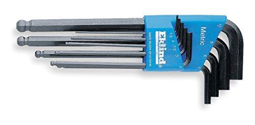 Eklind Tool Hex Wrench (Eklind 13609 Metric 9pc Ball Hex Key Set 1.5mm to 10mm - Long)