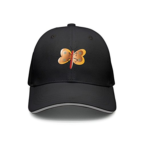 Halloween Glitter Clipart (Hey-ifx Twill Sandwich Cap Cute Buttefly Clipart Baseball Cap For Men For Men &)