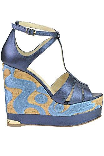MCGLCAT03173E Cuir BARCELÓ Femme PALOMA Compensées Bleu Chaussures E6q0xx7w