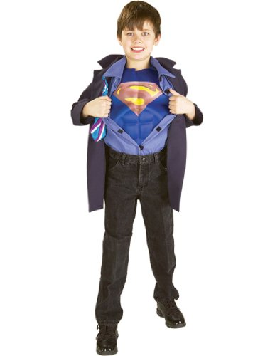 Gambit Costume Cosplay (Clark Kent to Superman Muscle Chest Child's Costume, Medium)
