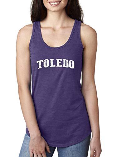 Ohio State Flag Toledo Traveler Gift Women's Racerback