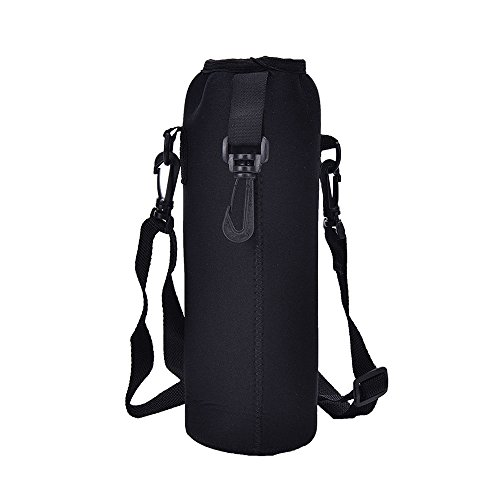 Little Story  Halloween Bathroom, 1000ML Water Bottle Carrier Insulated Cover Bag Holder Strap Pouch Outdoor -