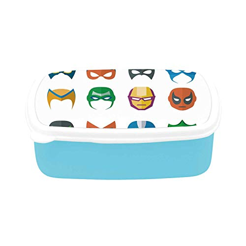Superhero Simple Plastic Lunch Containers,Hero Mask Female Male