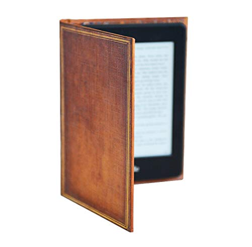 Kindle Case with Classic Book Cover (Compatible with New Paperwhite 2018 10th Gen) (My Book Brown)