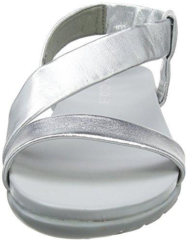 Argenté Spartiates Aerosoles silver Light Femme Lunch Mars Sil nSXxOX1Uq