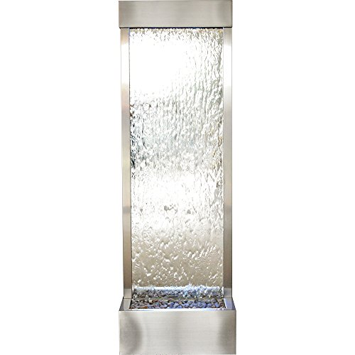 (BluWorld Tall 6' Stainless Steel Gardenfall with Silver Mirror)