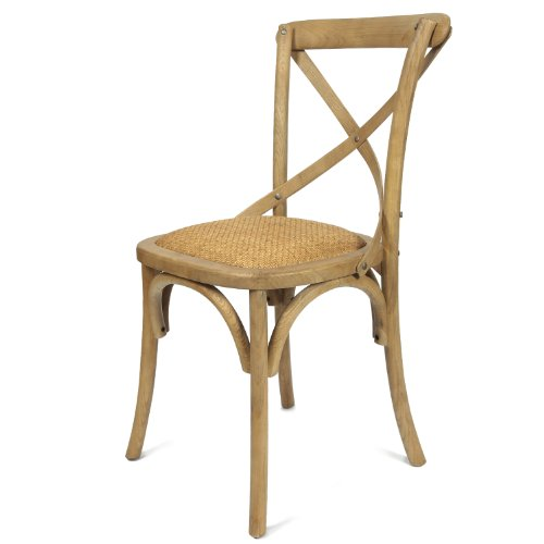 Joveco Antique Style Solid Wood Dining Chair with X Back Soft Rattan Seat -  Set of 2 - Antique Cane Chairs: Amazon.com
