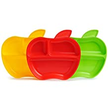 Munchkin Lil' Apple Plates, Red, Yellow, Green