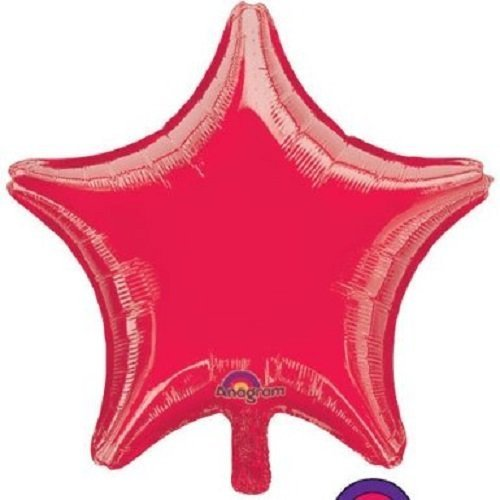 Star Shape Foil Balloon - Lot of 10 Red Star Shape Foil Mylar 19