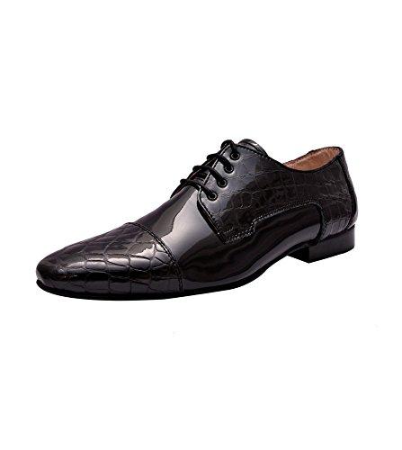 fc4e7d71660 Hirels Men Croc Patent Leather Oxford Derby/Party/Dress/ Formal ...