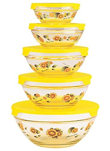 Imperial MW1127 Glass Bowls Lids