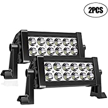 TURBOSII 7 Inch Led Light Bar Super Bright Led Work Lamps Off Road Lights Spot Back Up Driving Fog Lights For Chevrolet Dodge Ford Gmc Jeep Toyota Polaris Rzr Atv Utv Suv Truck Car Boat