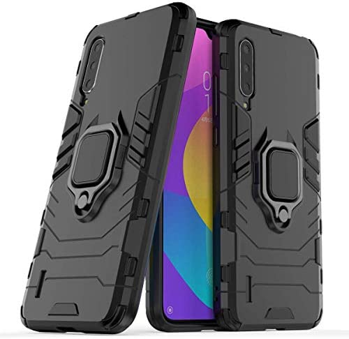 MYLB-US Xiaomi Mi A3 case,[Anti-Fall] Double-Layer Shockproof and Sturdy Hybrid Protecting Shell with Bracket Perform, Appropriate for Xiaomi Mi A3 Cell Telephone Protecting case (Black)