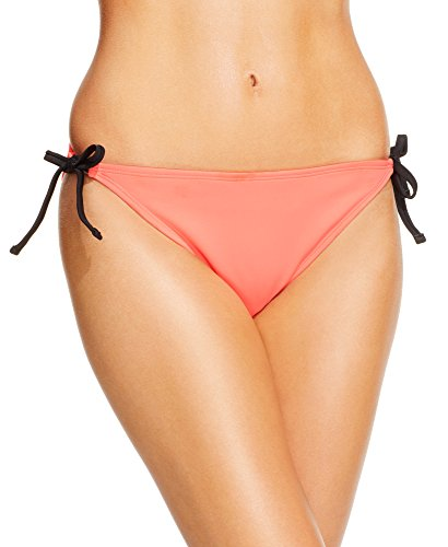 California Waves Side Tie Hipster Bikini Bottom Large Coral (Tie Hipster Side)