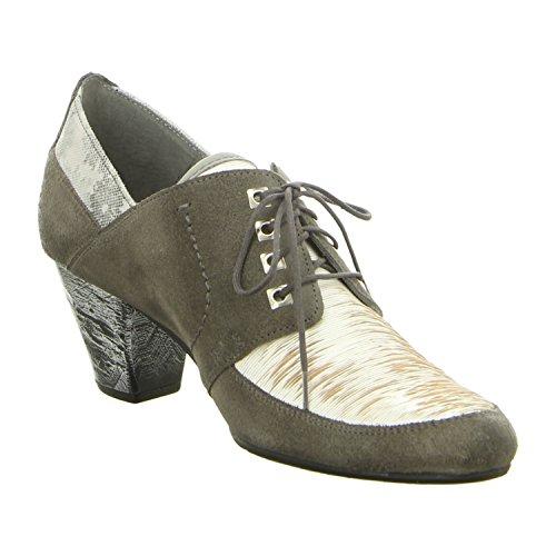Maciejka 02775-03/00-5 - Zapatos de cordones de Piel para mujer popiel