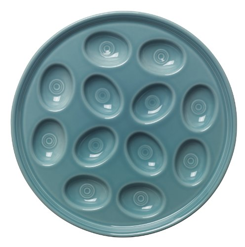 Fiesta 11-Inch Egg Tray, Turquoise - Fiesta Serving Tray