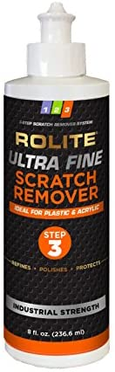 Rolite Ultra Fine Scratch Remover (8 fl. oz.) for Plastic & Acrylic Surfaces Including Marine Strataglass