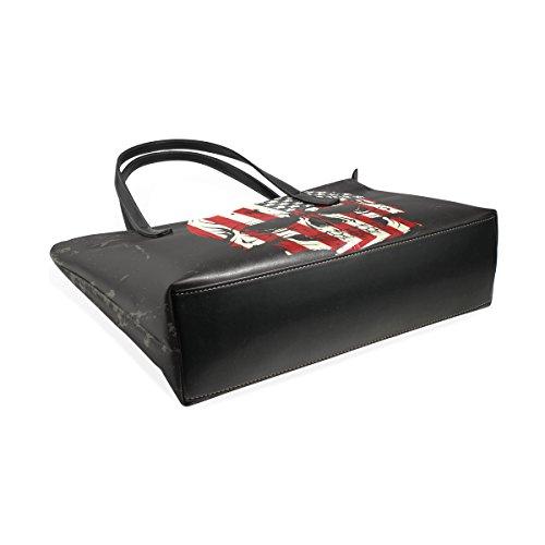 075f432ad633f ... COOSUN Skull Farbe der Flagge PU Leder Schultertasche Handtasche und Handtaschen  Tasche für Frauen ...